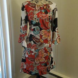 New York and Company Flounce-Cuff Sheath Dress